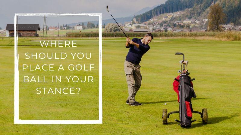 Man swinging at a golf club