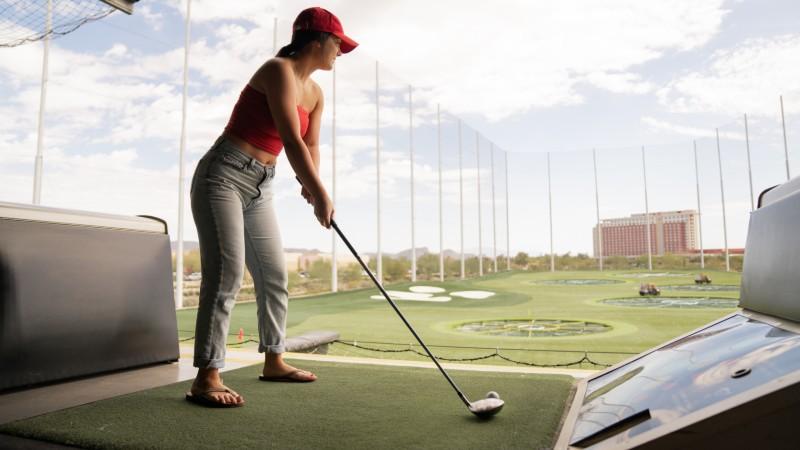 Correct golf ball position - Home