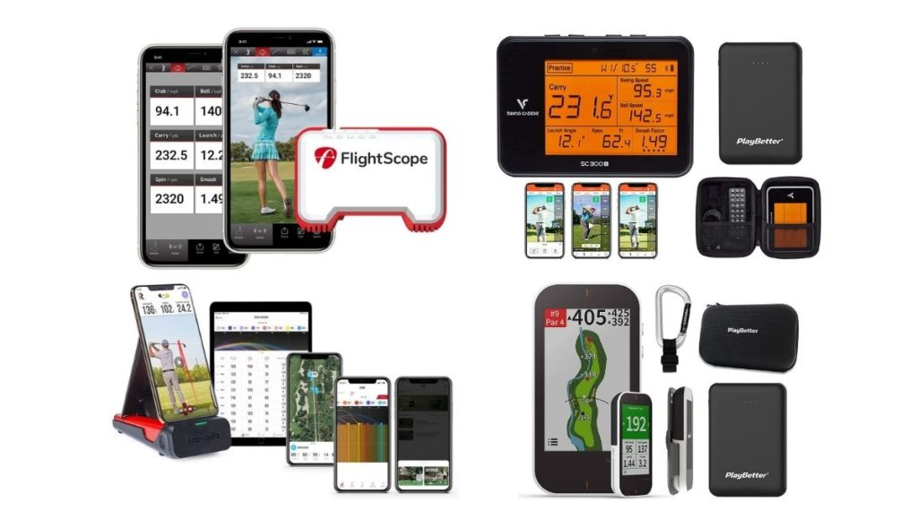 Will a Launch Monitor Improve Your Game> - Some of the most popular portable launch monitors on the market.