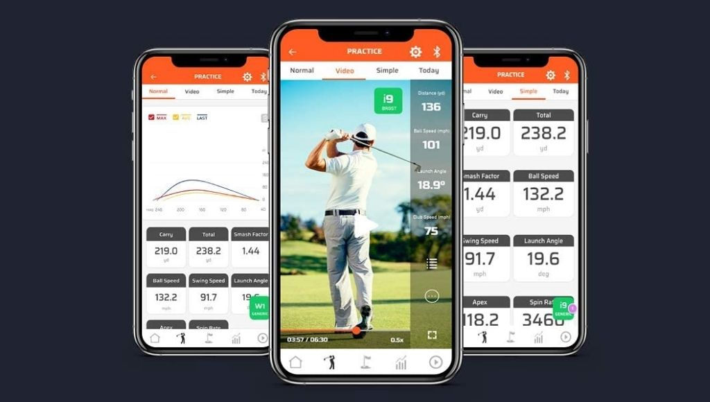 Swing caddie sc300i can monitor your launch angle, carry distance, and ball speed